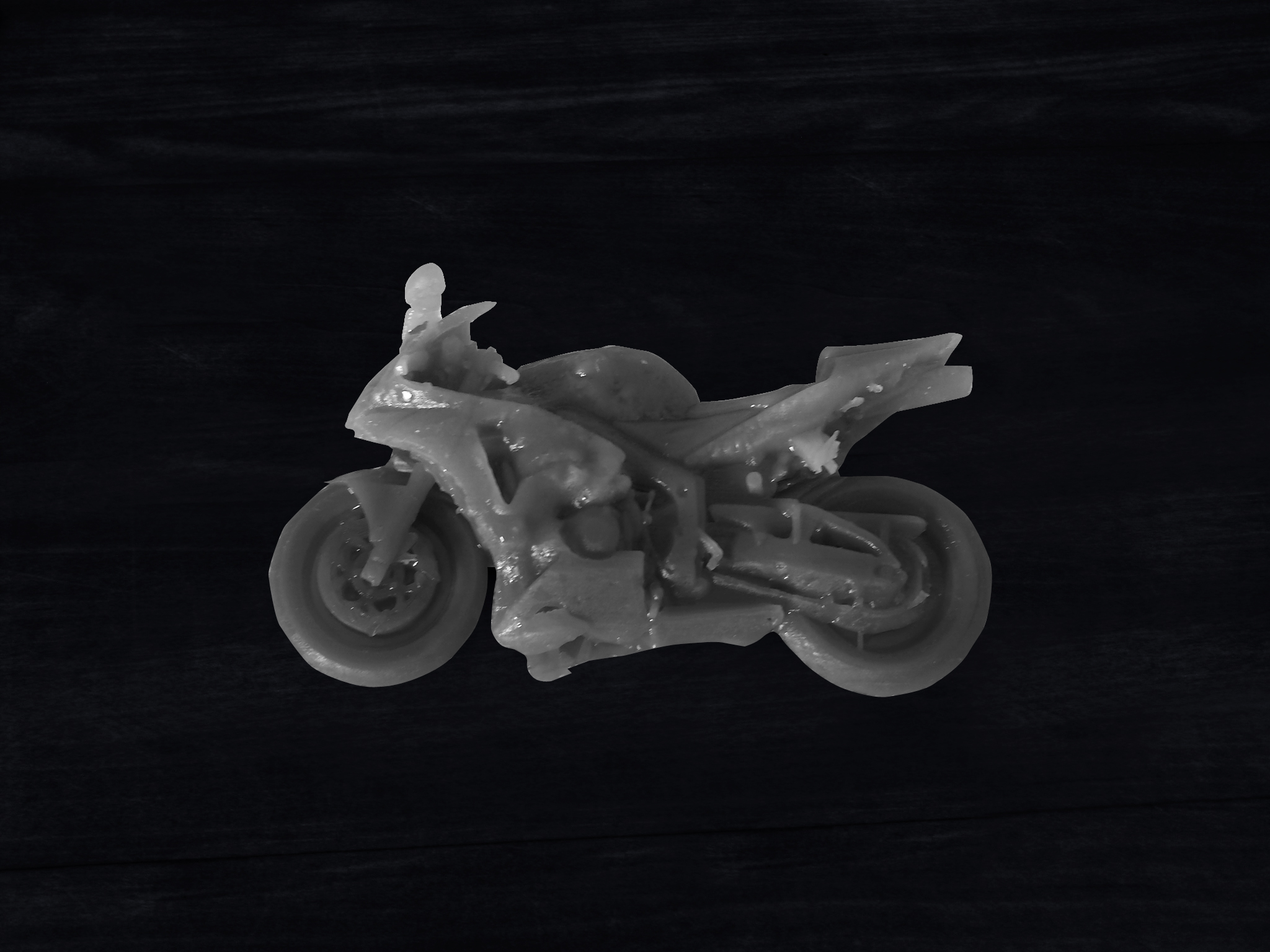 Honda CBR600 3D Print: This Honda CBR600 was 3D printed to see how the motorcycle slides on the ground given its geometry. This 3D print was a very useful tool in understanding the gouge marks found at the accident scene as and a demonstrative exhibit to convey that information to a jury.