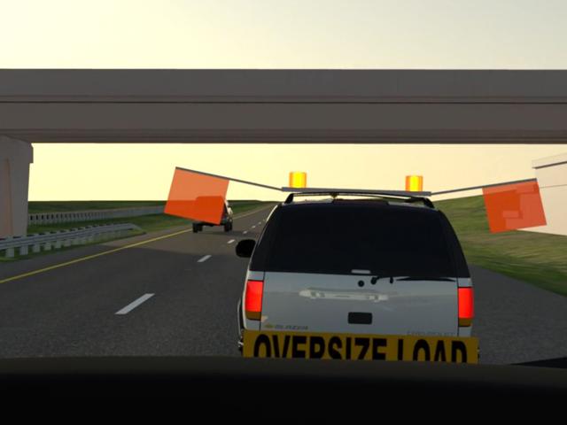 high speed rearend van visibility
